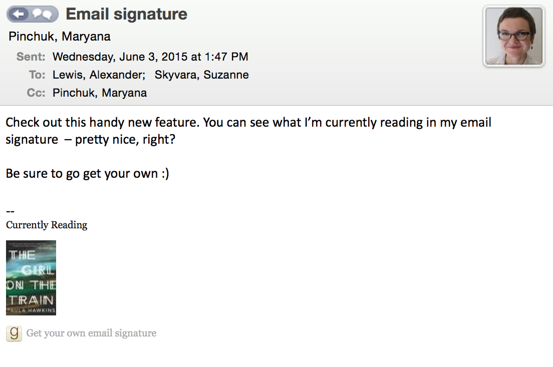 good signature for email