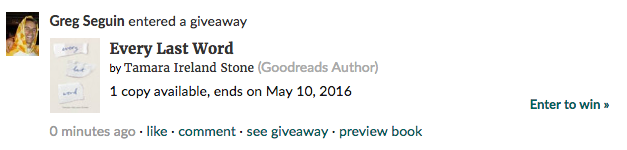 Goodreads giveaway rules