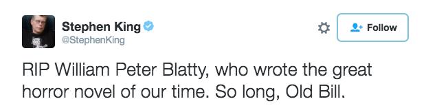 Remembering Blatty