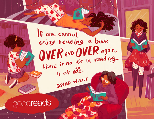 Celebrating The Joy Of Rereading A Favorite Book Goodreads News