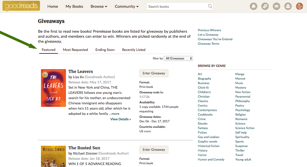 Goodreads Introduces New U S  Giveaways Program–A More