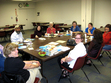 The Mostly Literary Fiction Book Group at their May 2008 discussion of <i>The Lovely Bones</i> by Alice Sebold.