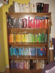 color order!!! feel free to add your own pictures of your bookshelf. :)