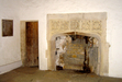 Fireplace decorated with quatrefoils