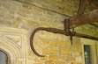 Thatch hook for pulling down thatch from the roof in the event of a fire (the original thatch is no longer in place, the roof having been tiled over).