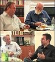 Richard Dawkins, Christopher Hitchens, Sam Harris, and Daniel Dennett.