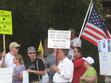 8/7/09 Outside Democrat Brad Miller's office