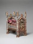 A charming  liturgical cradle from the Grand Béguinage of Louvain. It functioned as a devotional object dedicated to the Christ child and was popular in 15th and 16th century private homes and convents. This piece is currently on display at the Metropolitan Museum of Art in New York City (and it's rather small in real life).