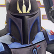 Pre Vizsla, the leader of the ex-Mandalorian splinter group, Death Watch! And my profile picture...