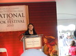 Picture of Diana, taken over many heads, at the Library of Congress Book Fest.
