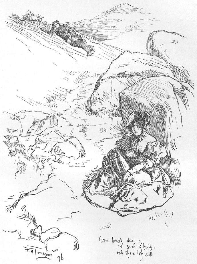 """threw himself down on a swell of heath, and there lay still""