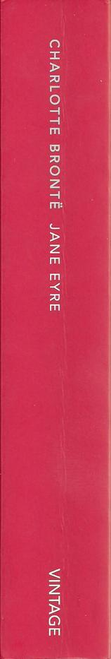 """The spine of the Vintage Classics edition of """"Jane Eyre""""."""