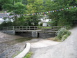 This is the footbridge at the top of Helford Village, which Amy crosses when she goes to see Tom Laity.