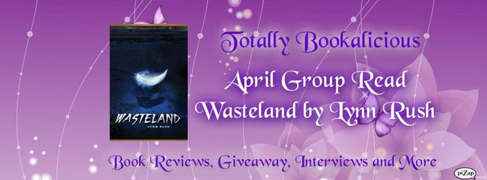 How fun.  Totally Bookalicious made this FB cover photo with Wasteland on there.