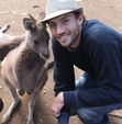 Dave with a Kangaroo