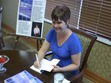 I am at a book signing .I had a great time meeting some of my readers.