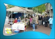Boeken- en kunstmarkt in Hoorn (Noord-Holland). Niet heel veel boekenhandelaren, meer kunstnijverheid, maar wel leuk en gezellig.
