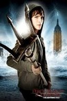 This is a picture of Percy Jackson (Logan Lerman) holding a trident.
