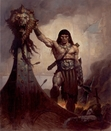 """Gerald Brom's depiction of Conan as """"Amra the lion""""."""