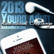 The 2013 YA Audiobook Challenge graphic was designed by Jessi of Otherwhere.Co!