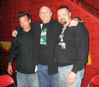 A. Razor, S.A. Griffin, Bucky Sinister pose together in the Chinatown area of Los Angeles before a reading at the Mountain Bar. This was A. razor's first reading after being released from prison a few months earlier, (2007)