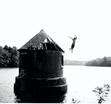 My 19-year-old nephew took me to a lake or reservoir (not sure) near his home in MA.  It was more than a mile hike through thick brush.  I had to rest before I swam but he immediately jumped in and swam to whatever this structure is, climbed it and flung himself off with such abandon.  Oh, to be 19 again!