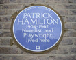 The novelist and playwright Patrick Hamilton (1904-1962) was commemorated with an English Heritage blue plaque in celebration of his life and contribution to literature. The plaque was installed at 2 Burlington Gardens, Chiswick, W4 on Saturday 12th February, 2011.