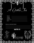 STS EVENT FLYER/invitation GOTHIC TEA