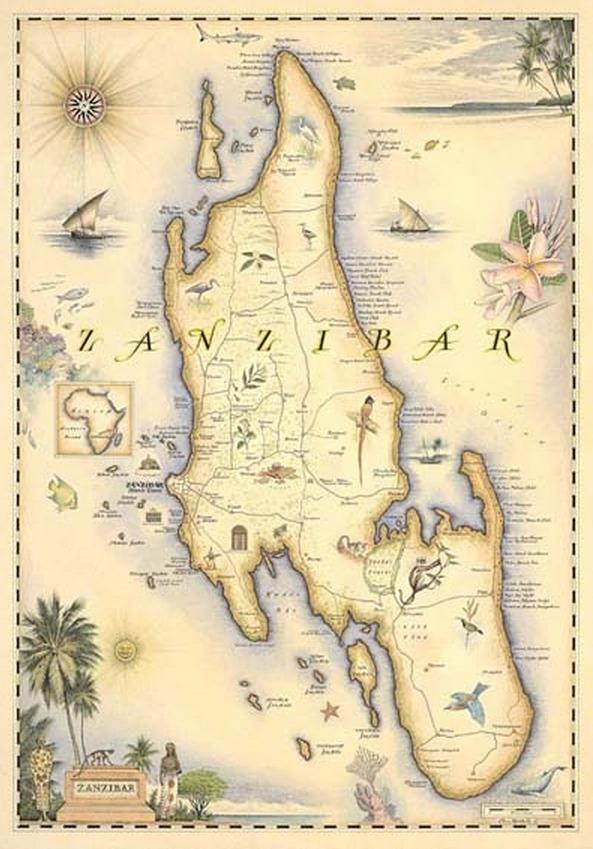 MAP OF ZANAIBAR