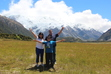 Mike and family at Aoraki/Mt. Cook National Park in New Zealand. January 4, 2014.