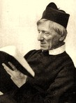 a nice old photo I found of John Henry Newman intently reading, digitally enhanced and restored on Microsoft Picture-It