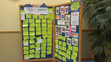 Our Summer Reading Board. The board had several book reviews and recounted prizes won during the course of the program.