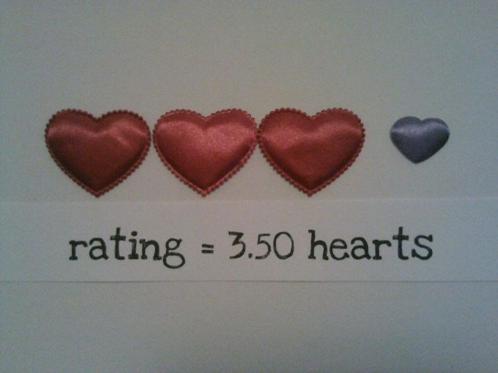 3.5 hearts rating