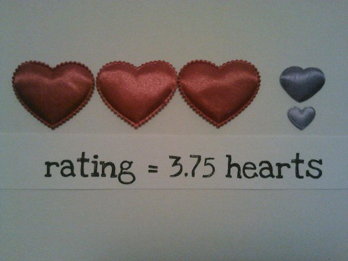 3.75 hearts rating