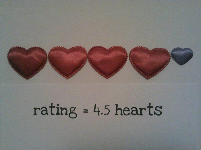 4.5 hearts rating