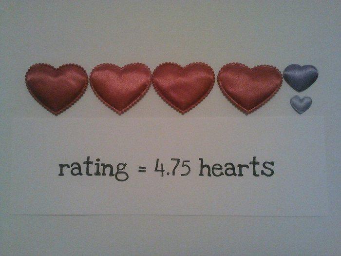 4.75 hearts rating