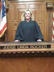 Author of Punishment, A Legal Thriller and Blame, A Casey Portman Novel, in her courtroom in 2009.
