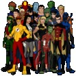 young justice+some of the justice league members