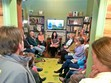 Our book club meets with author Nadia Hashimi to discuss her book, The Pearl that Broke Its Shell