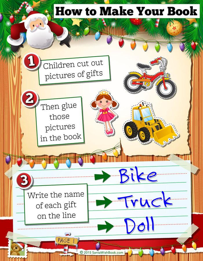 Photos of Santa Wish Book - Cut and Paste a Wish List for Santa ...