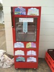 a Little Free Library in Jerrys Plains, Australia.. made from an old refrigerator