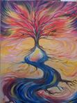 Deep roots & sweet fruits. Draw in Living Water breath out Fire and sweet incense. Psalms 1. Amy Rylander Art
