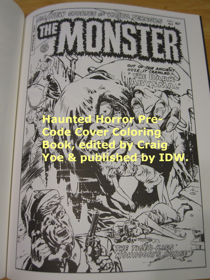 Book Cover Photography Zip Code : Haunted horror pre code cover coloring book volume by