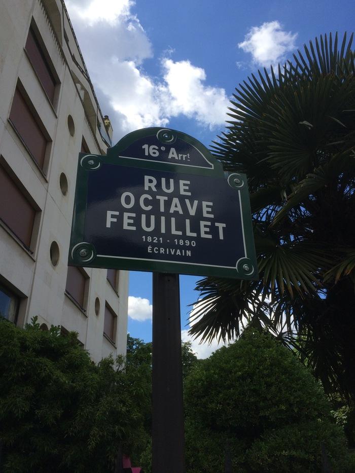 Rue Octave Feuillet street sign