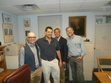 Kenneth Minkema, Adrian Neele, Rhys Bezzant, and myself in the Jonathan Edwards Center office at Yale, summer of 2014.