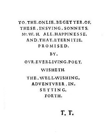 Shakespeare Fans - Sonnets: The dedication (showing 1-24 ...