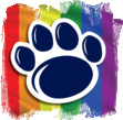 LGBTQA SRC Pawprint Logo