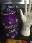 Winner of the Dirty Magic giveaway will receive this awesome Curse Jar as part of their prize pack!   (Hand and books are not included in pack--just used for scale.