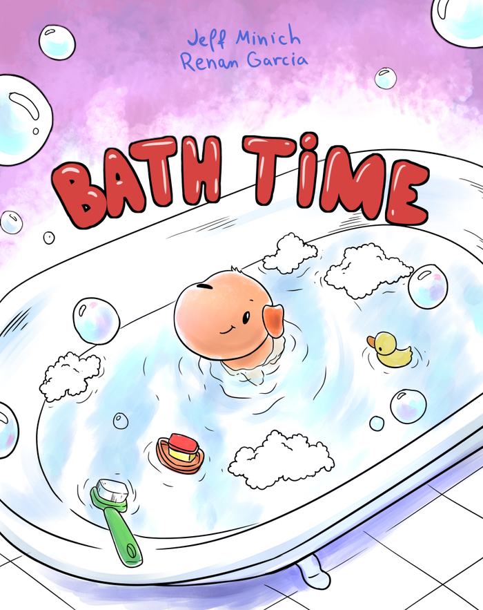 Baby Chomper's Bath Time Cover Image