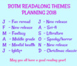 Most of the themes are based on events happening during that month :) For example, Mental health for mental health awareness month and Literature for literacy month.